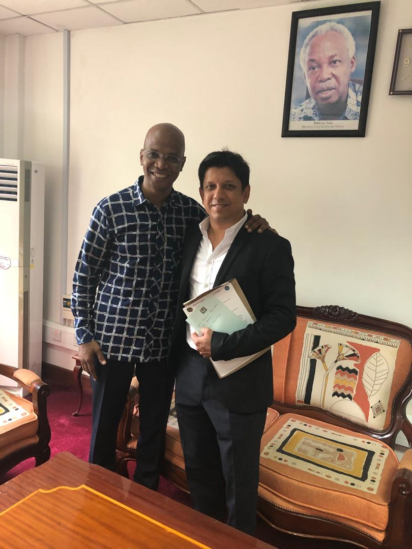 3rd April 2019, Meeting with Honorable Minister of Environment, January Makamba
