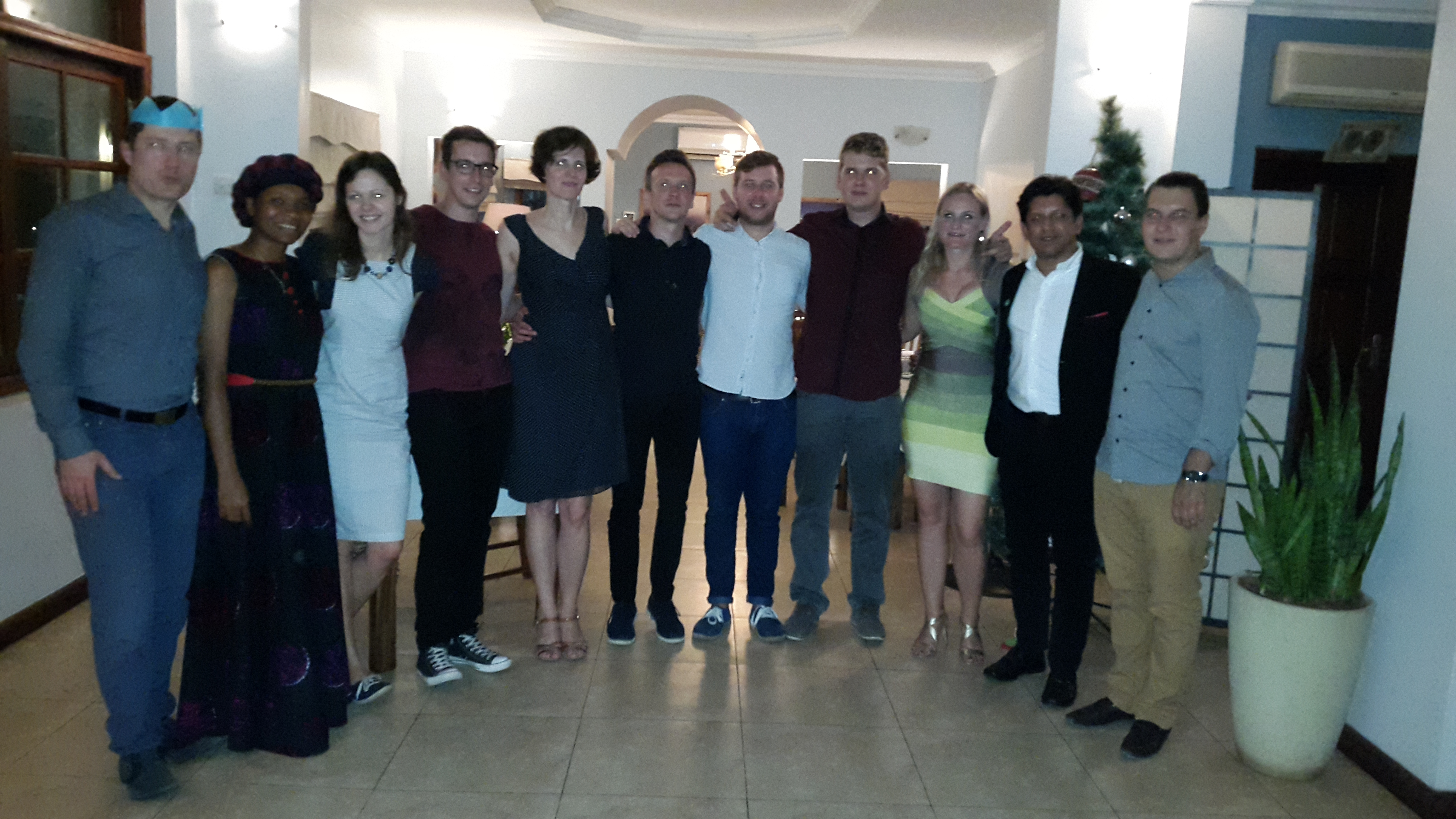 First Christmas dinner with Lithuanians living in Tanzania hosted by the Honorary Consul, Shekhar Kanabar